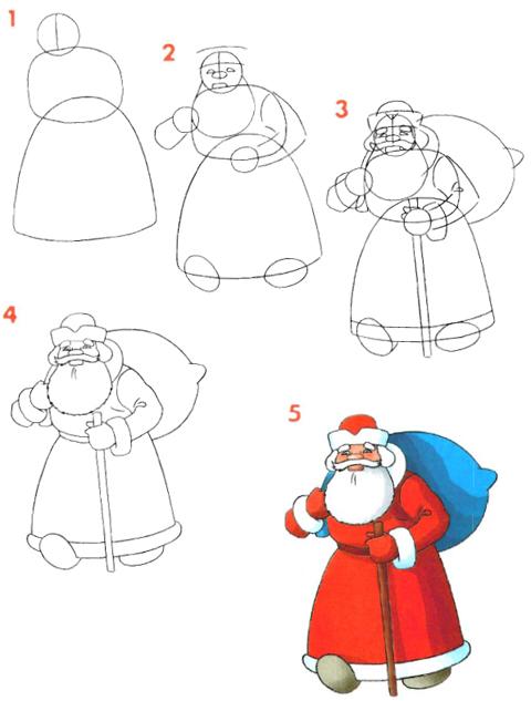 Дед мороз своими руками поэтапно