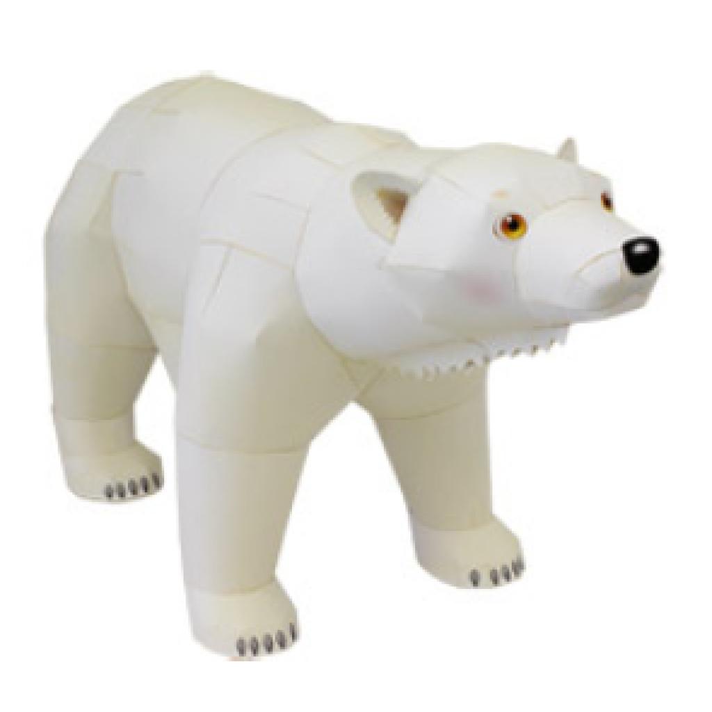 Медведь из бумаги пластика